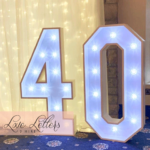 number 60 Light Up Numbers